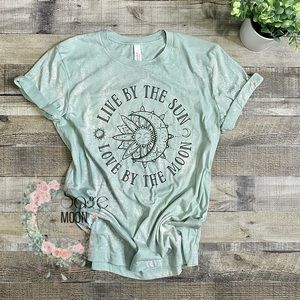 Live by the sun, love by the moon short sleeve tee